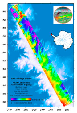 LVIS maps an entire glacial region along the Antarctic Peninsula